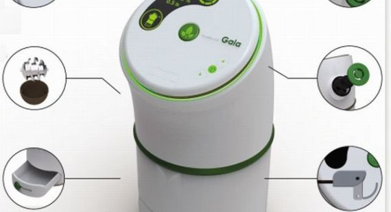 Gaia domestic composting machine to recycle food waste instantly  Hometone