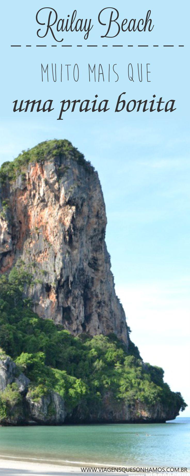 Railay é mais uma das lindas praias da Tailândia, banhadas pelo mar de Andaman, que pode servir de base para outros passeios na região e também como ponto de partida para a famosa Koh Phi Phi