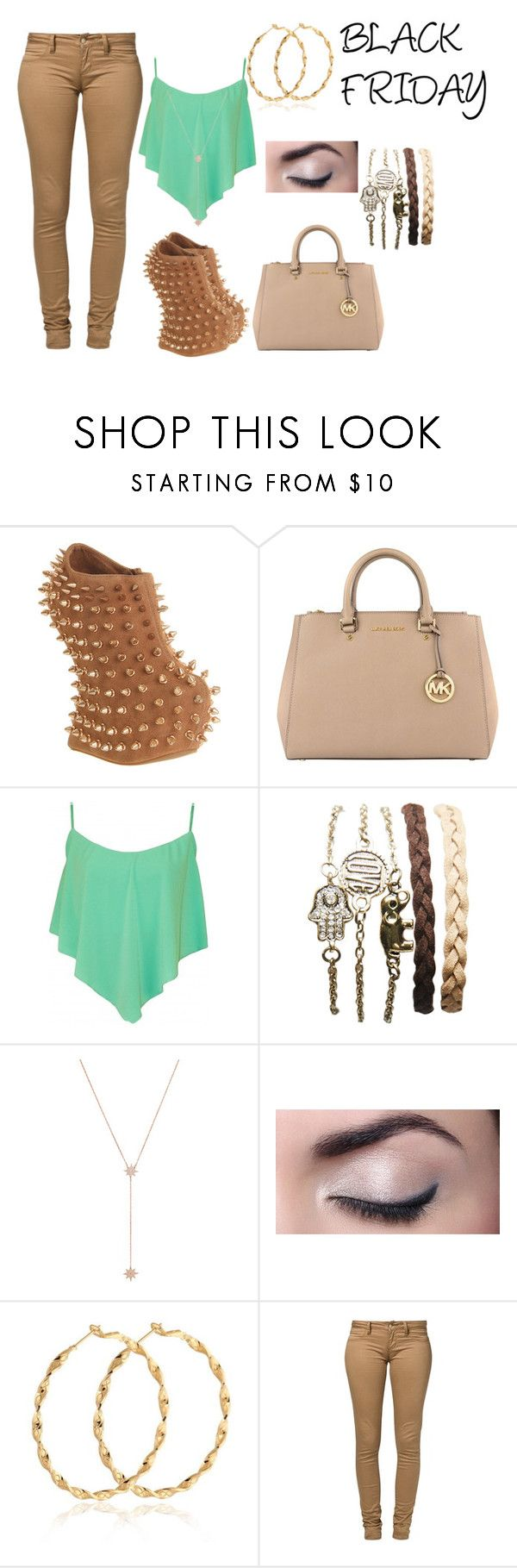 """Untitled #494"" by svhs2019 ❤ liked on Polyvore featuring Jeffrey Campbell, MICHAEL Michael Kors, Wet Seal, Jennifer Zeuner and Monkee Genes"