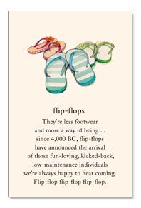 Flip-flops card by Cardthartic