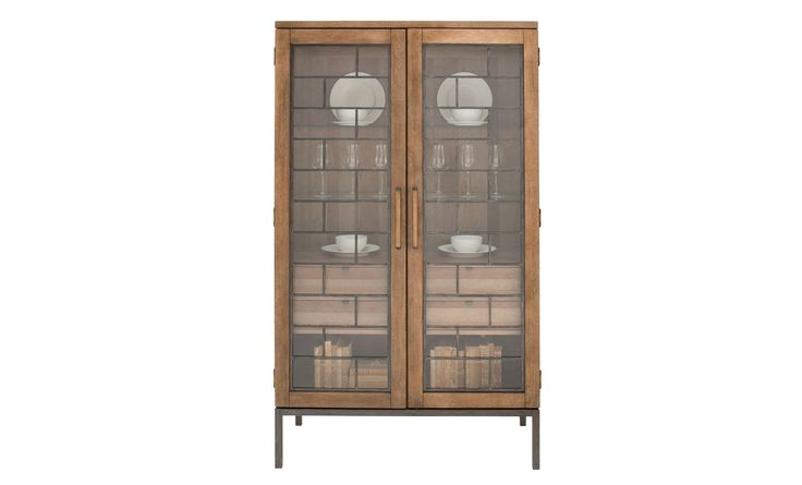 Add a rustic chic display cabinet to your dining room with the Epicenter Collection. Completed with a distressed reclaimed pallet finish that allows the gorgeous birch and maple veneers to shine through. Built upon a sturdy construction, the display cabinet features storage space that works well in small or large spaces for a charming and functional design!