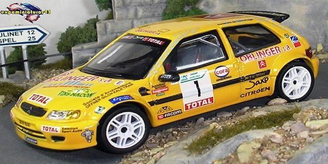 Rally des Vins de Mâcon 1999 Citroen Saxo Kit Car Loeb/Elena 1/43