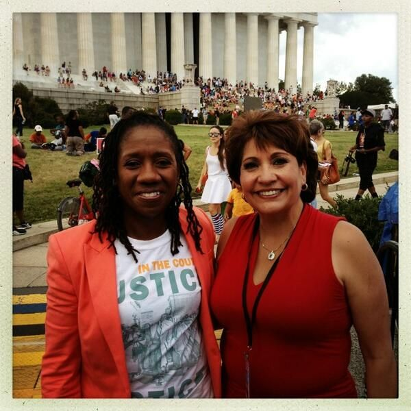 Sherrilyn Ifill ‏@Sifill_LDF The coalition: me and Janet Murgia, president of La Raza. #MarchOnWashington pic.twitter.com/0kubrZV6Kv