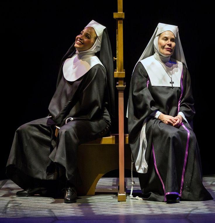 "Stephanie Umoh and Hollis Resnik star in Marriott Theatre's ""Sister Act"" by Alan Menken and Glen Slater, directed by Don Stephenson. (photo credit: Liz Lauren)"