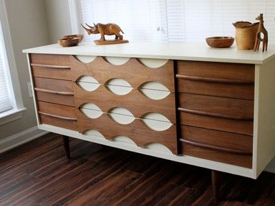 Chic, Salvaged Mid-Century Modern Furniture by Revitalized Artistry #eco #design