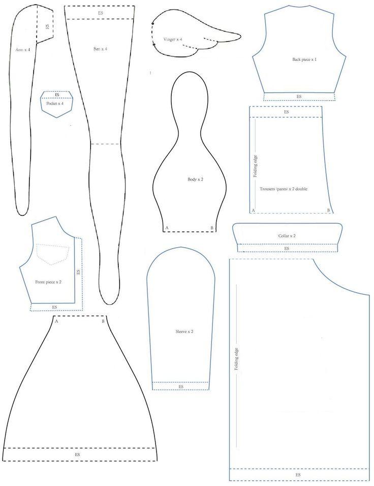 Tilda pattern angel jeansjacket