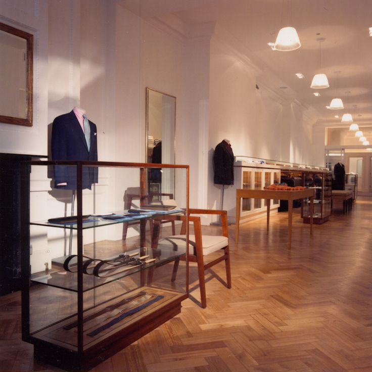 The Savile Row Bespoke Tailoring Store Interior For British Label Hackett
