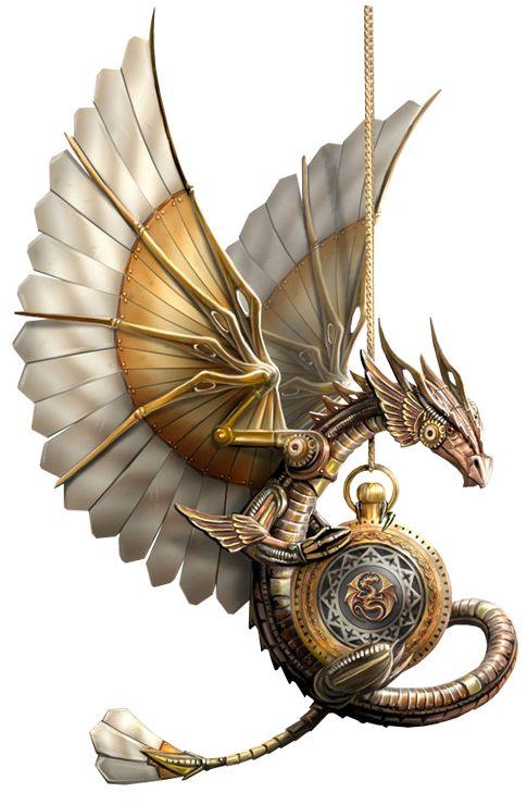 Steampunk Dragon, 2011. Digital Art. Anne Stokes