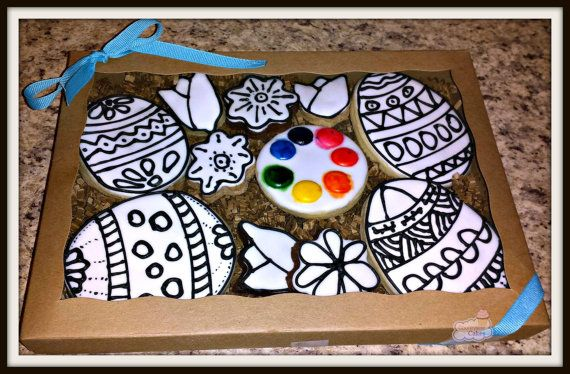 Paint your own Easter Sugar Cookie Kit by CountrysideCakes on Etsy