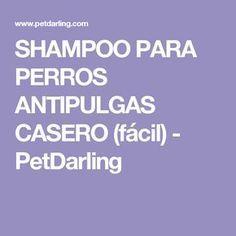 SHAMPOO PARA PERROS ANTIPULGAS CASERO (fácil) - PetDarling