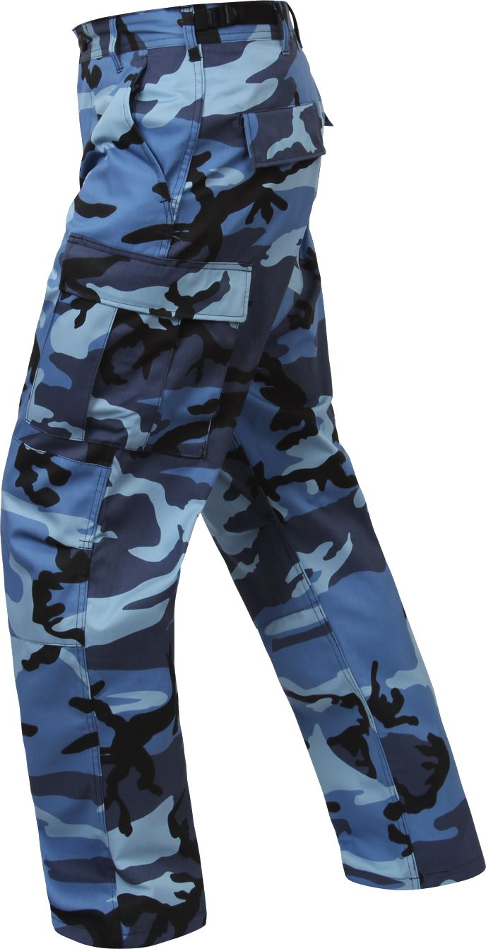 Blue Camo BDU Pant