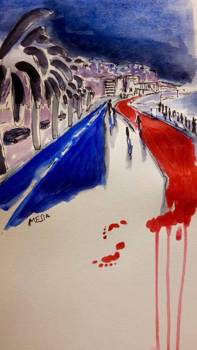 Τραγική εικόνα η φωτογραφία του νεκρού παιδιού με την κούκλα του στο πλάι, από τη σφαγή στη Νίκαια. Συγκινεί το σκίτσο του Latuff. Μήνυμα κατά του φόβου από τον Banksy - ΜΗΧΑΝΗ ΤΟΥ ΧΡΟΝΟΥ