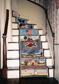 Would love to try hooking stair treads! rug-hooking