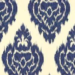 navy ikat fabric for the drapes