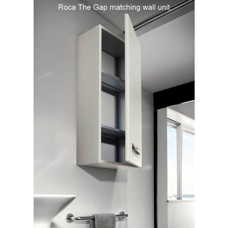 "Contemporary bathroom furniture from Design Spanish brand: Roca.   ""The Gap"" Basin Unit (Beige). Bathroom Vanity Units & Basin Units from UK Bathrooms www.ukbathrooms.com  #awesome!"