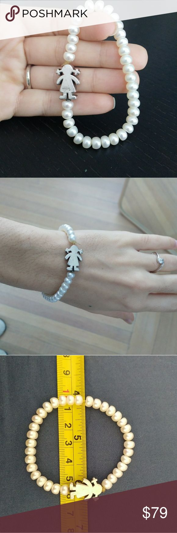 HOT!! 🔥🔥Elastic tous bracelet Sweet Dolls Tous bracelet with pearls and silver Tous Jewelry Bracelets