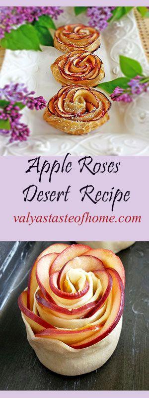 Need a B-Day Dessert Recipe?http://valyastasteofhome.com/apple-roses-desert-recipe
