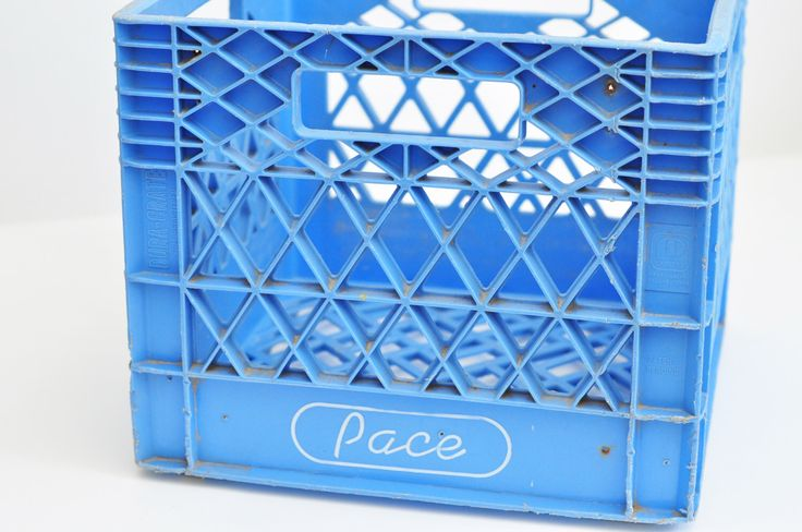 Pace Plastic Milk Crate by CanGoods on Etsy https://www.etsy.com/listing/450207242/pace-plastic-milk-crate