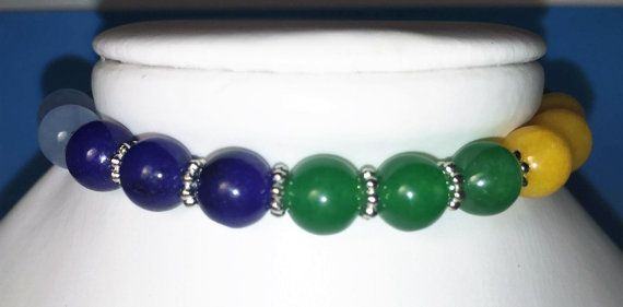 7 Chakra Stone 8 Bracelet with silver spacer by onangelwingsthings