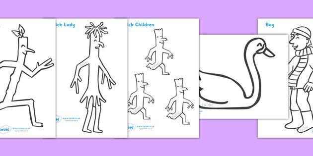 Stick Man Colouring Sheets - Stick Man, Julia Donaldson, resources, family tree…