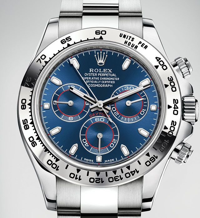 Rolex Daytona White Gold Blue Dial Baselworld 2016