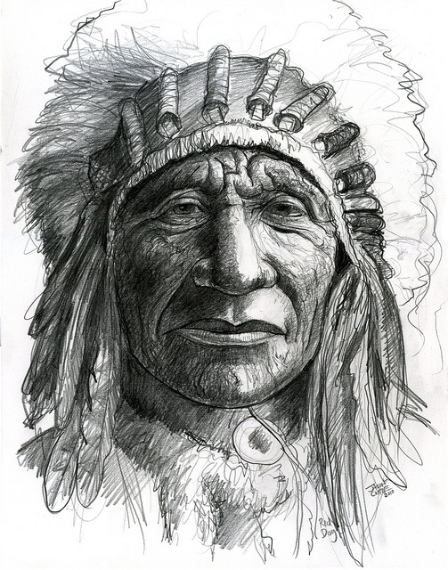 Native American close-up by Caricature80, via Flickr