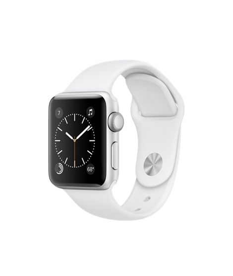 Apple Watch - Silver Aluminum Case with White Sport Band - Apple