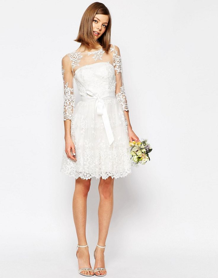 (Picture: ASOS)Take away the high heels and substitute some jeweled flip flops and this is a lovely beach wedding dress for those looking for something simple  and fun