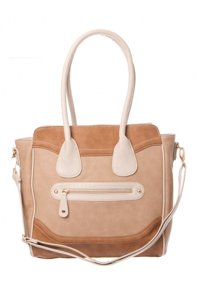 Zip Panel Tote in NATURAL #5885 - colette by colette hayman