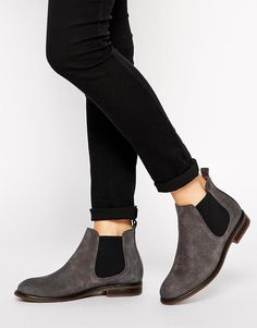 Jack Wills | Jack Wills Charcoal Suede Chelsea boots at ASOS