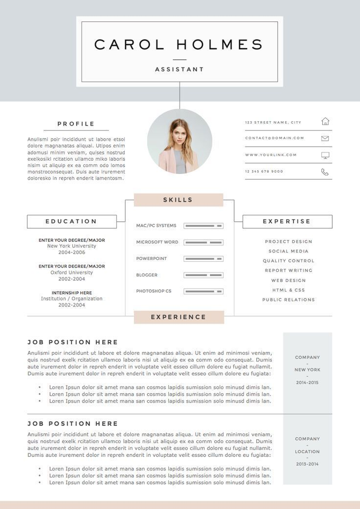 Resume Template 4page | Milky Way by The.Resume.Boutique on /creativemarket/