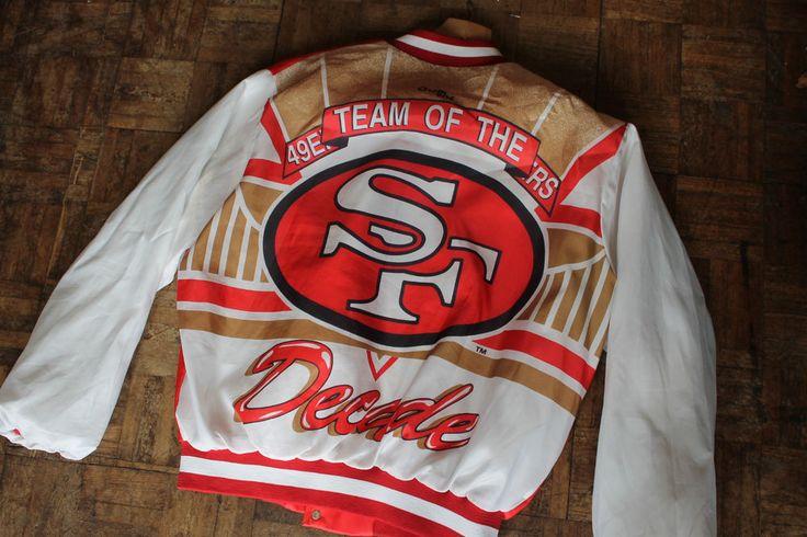 VTG San Francisco 49ers TEAM OF THE DECADE Chalkline Jacket sz XL 80's giants   Sports Memorabilia, American Football Memorabilia, Other American Football Mem   eBay!