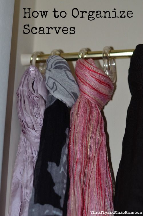 1000 ideas about organize scarves on pinterest