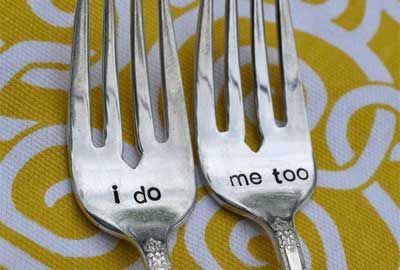 Wedding rehearsal dinner ideas, forks.  i can picture these in a shadow box with a monogramed napkin from the day.