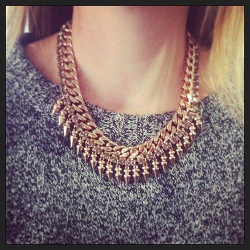 Obsessed with our market editor's Mawi spike collar! Available at www.paire.us