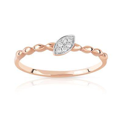 #BAGUE - www.maty.com/Bijoux/0920762/bague-or-375-rose-diamant.html or 375 rose diamant #Bijoux #MATY