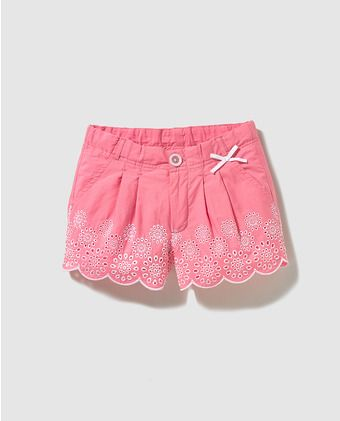 Short bordado de niña Freestyle fucsia