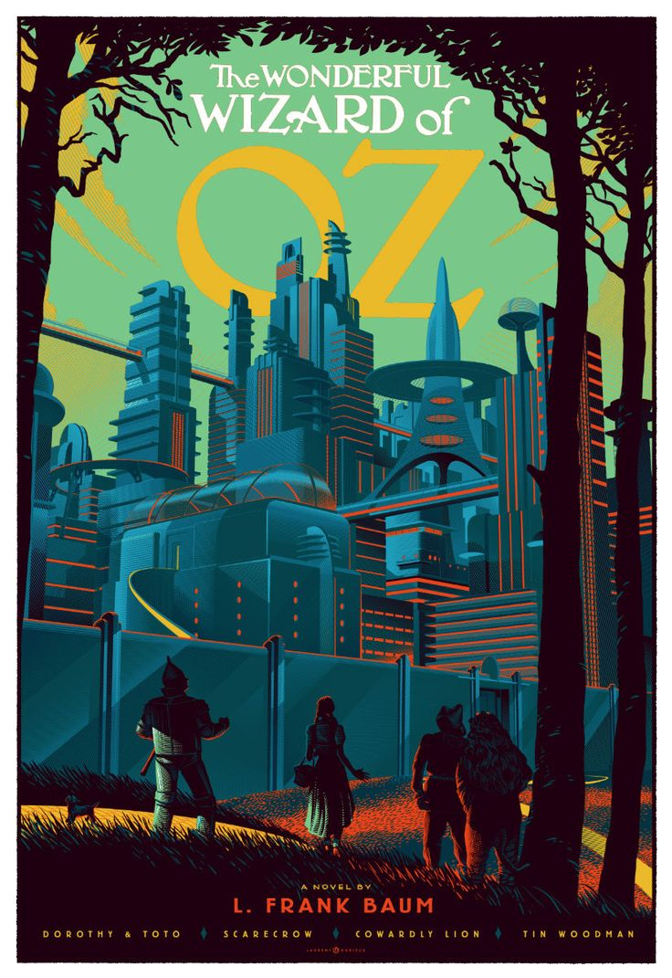 Wizard of Oz poster by Laurent Durieux