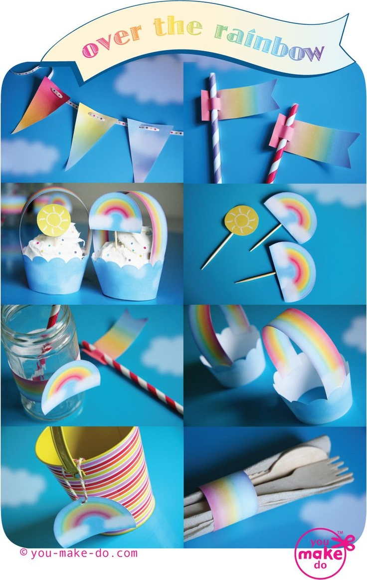 over the rainbow party printables from http://www.you-make-do-shop.com/