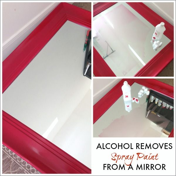 painting tip use rubbing alcohol to remove spray paint from a mirror. Black Bedroom Furniture Sets. Home Design Ideas
