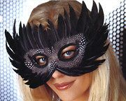 Festiva Exotic Mask Halloween Party Costume Accessories Carnival Elegant Black