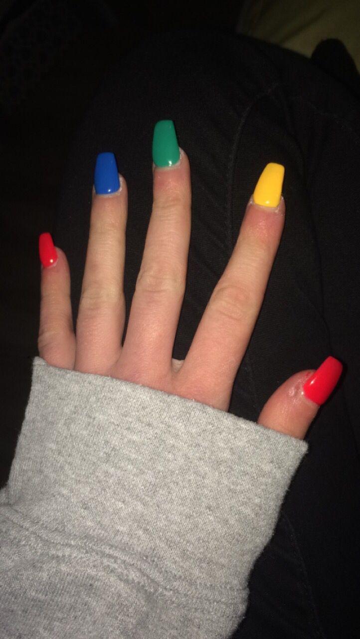 Nail Red Nails Blue Toe Nails Green Nail Designs