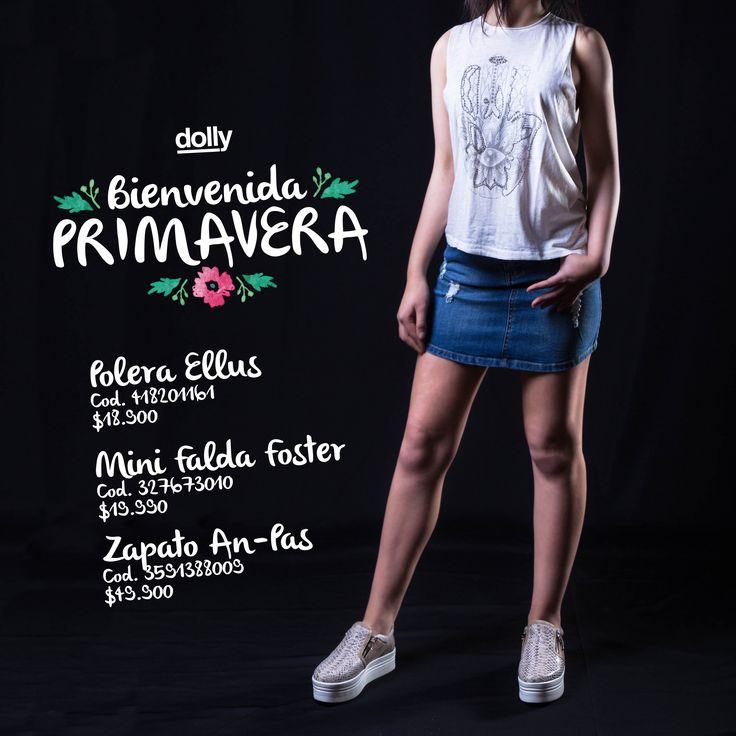 Que esta primavera ole de de colores tu vida y tu estilo. #Dolly #polera #short #mini #falda #mujer #tendencia #estilo #primavera #mujer #puerto #montt #urbano