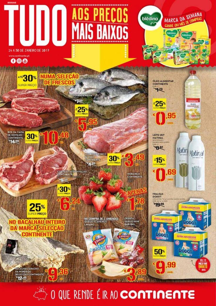 Folheto Continente promoções da semanaem vigor de 24 a 30 Janeiro #Promoções #Continente
