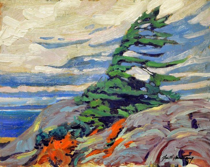 Garth  Armstrong - Chikanishing Pine 8 x 10 Oil on board