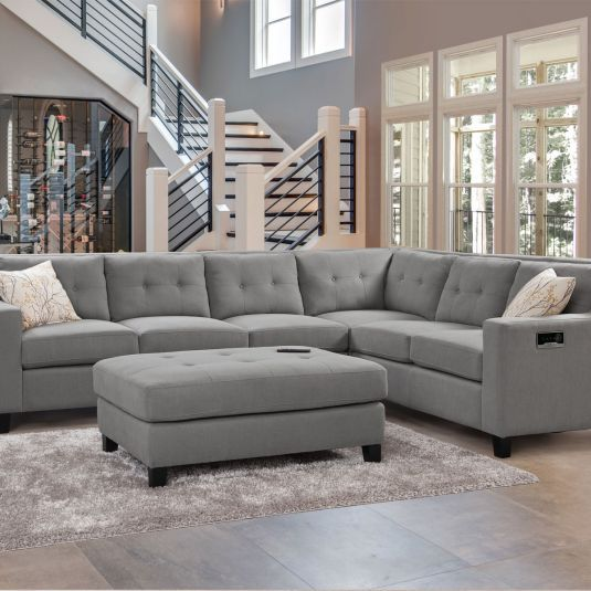 Aguilar 4pc Sectional In 2020 Large Sectional Sofa Large Sectional Living Room Microfiber Sectional Sofa