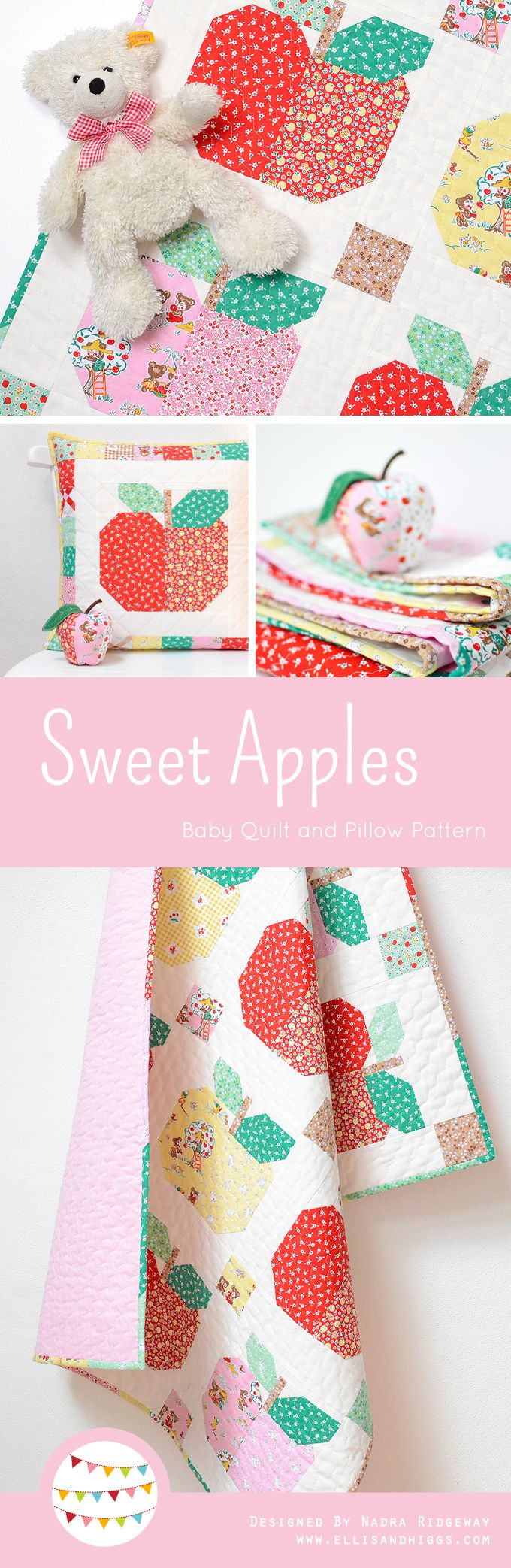 Sweet Apples Baby Quilt and Pillow Pattern by Nadra Ridgeway