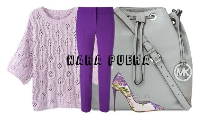 Lila Day by Nara Puera on Polyvore featuring ESCADA, Dolce&Gabbana and MICHAEL Michael Kors, fashion, lila, high heels, color, pants, bag