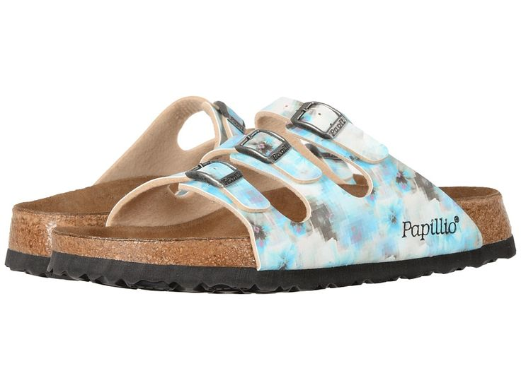 BIRKENSTOCK BIRKENSTOCK - FLORIDA PIXEL SOFT FOOTBED (PIXEL BLUE BIRKO-FLOR) WOMEN'S  SHOES. #birkenstock #shoes #