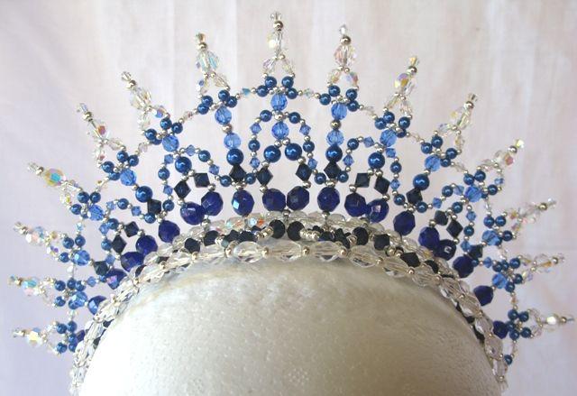 Tiara Princess Royal Blue/Sapphire/Crystal AB Buy Dance tiaras, Swarovski crystal beaded headpieces for ballet dancers